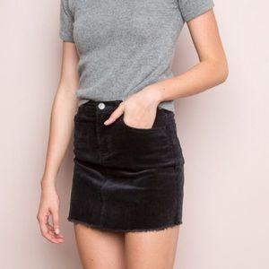 Brandy Melville Black Corduroy Mini Skirt